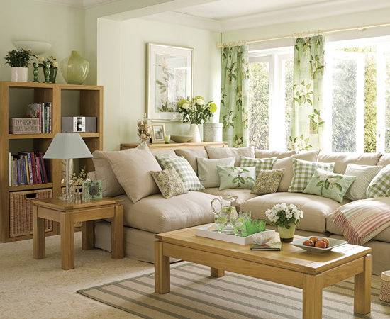 Decorating Living Room Mint Green Color Fashion