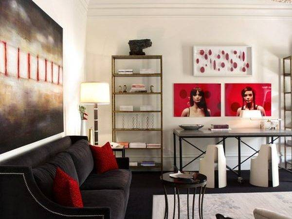 Decorating Red Grey Ideas Inspiration