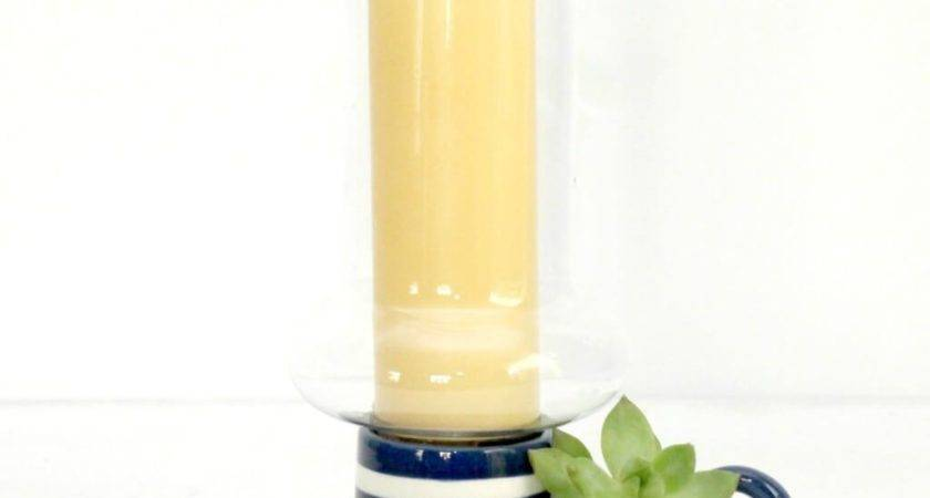 Decorating Vintage Textured Blown Glass Hurricane Candle
