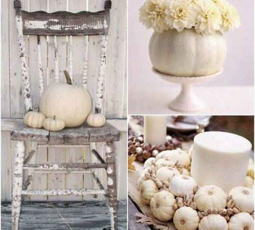 Decorating White Pumpkins Small Home Big Start