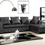 Decoration Black Leather Sofa Living Rooms Men