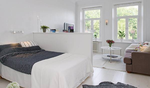 Decoration Ideas Divide One Room Into Bedroom