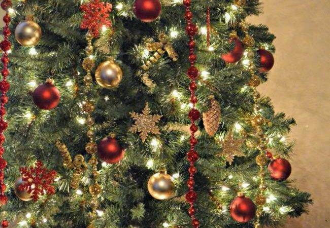 Decorations Christmas Trees Red Gold