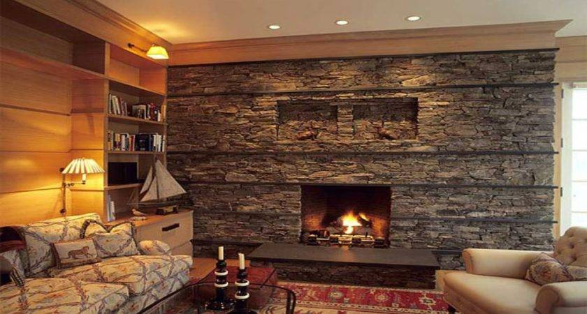 Decorative Bedrooms Stone Fireplace Above Ideas