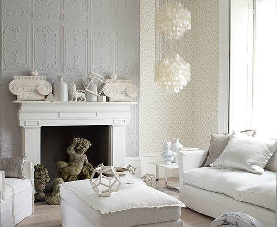 Decorative White Grey Living Room