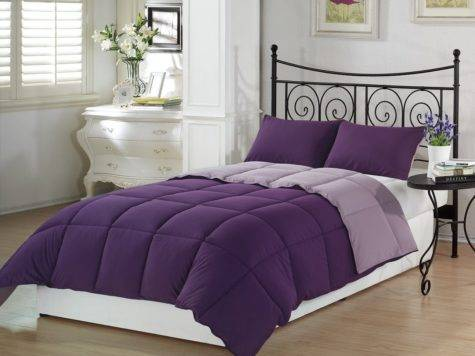 Deep Dark Purple Comforters Bedding Sets