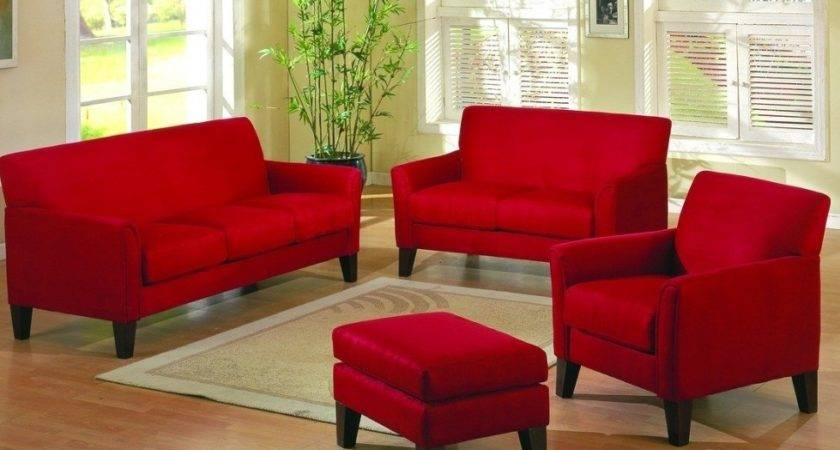 Delighful Red Brown Living Room Furniture