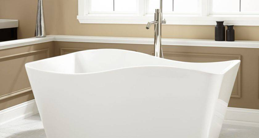 Delmare Acrylic Freestanding Tub Bathroom