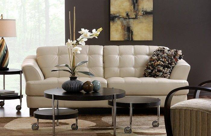 Delray Taupe All Leather Sofa Also Available Red