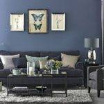 Denim Blue Grey Living Room Decorating