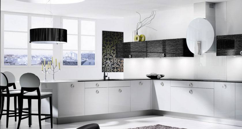 Descent Black White Kitchen Design Stylehomes