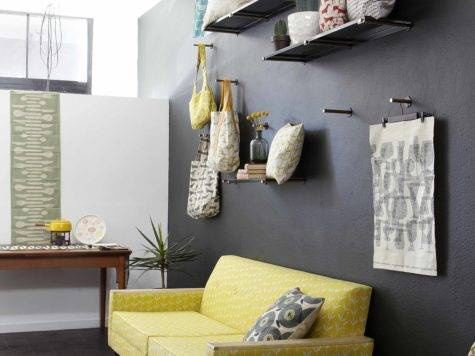 Design Around Yellow Living Room Sofa