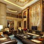 Design European Luxury Villa Living Room