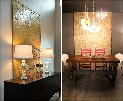 Design Evolution Stunning Brass Feature Wall