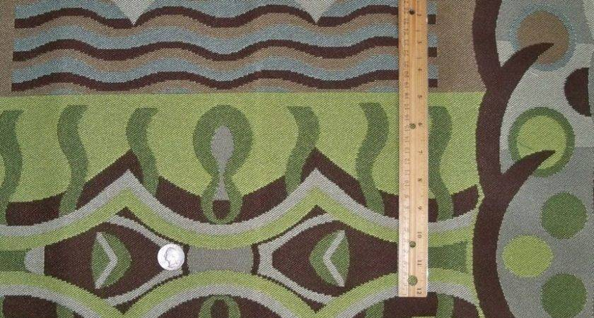 Designer Abstract Art Deco Upholstery Fabric Yards