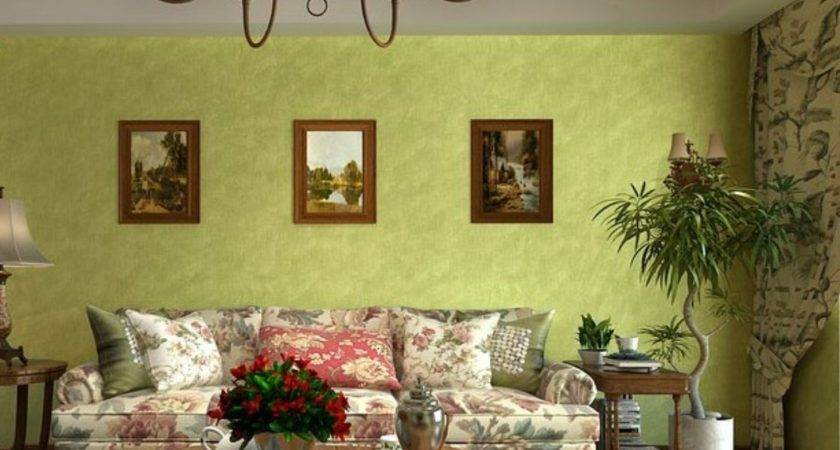 Designing Living Room Green Eco Friendly