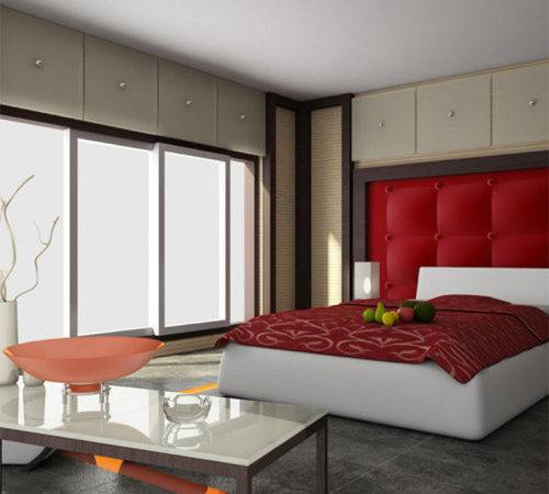 Designing Red White Bedrooms Excellent Tips