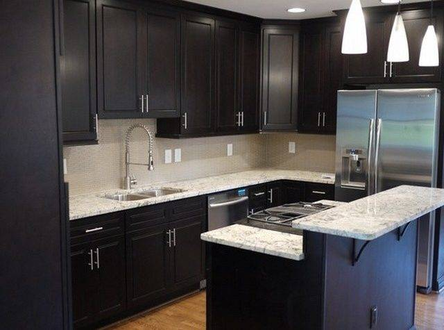 Designs Dark Cabinet Kitchen Home
