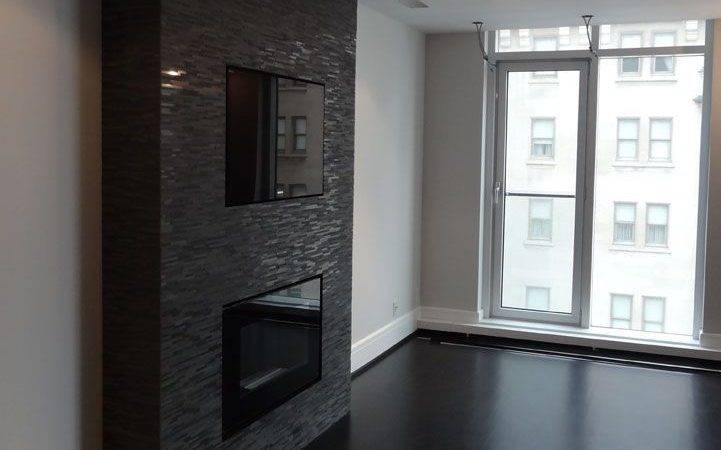 Detail Fireplace Accent Wall Downtown