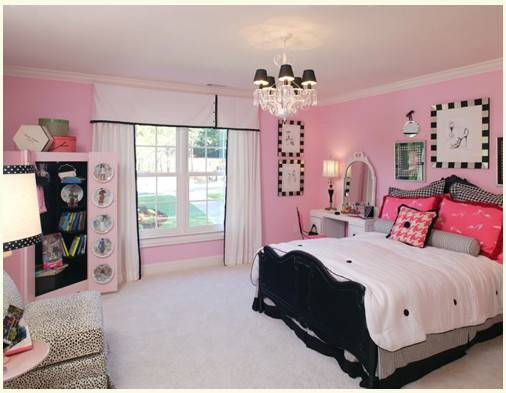 Diary Lifestyles Pink Black Girls Rooms