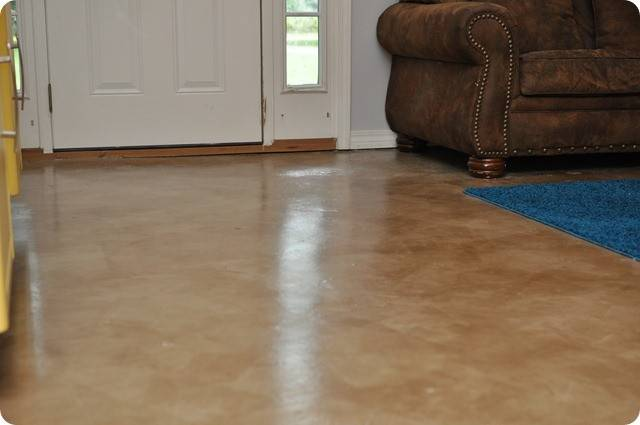 Dibble Dabble Life Diy Painted Stained Concrete Living