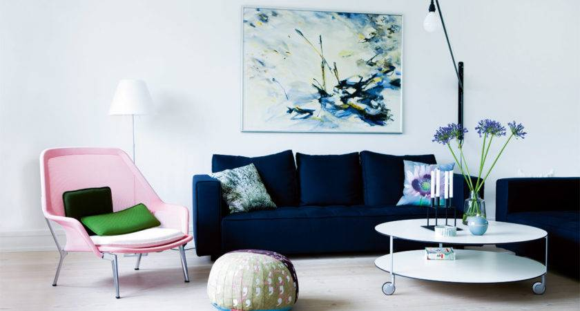 Different Style Decorate Home Blue Velvet Sofa