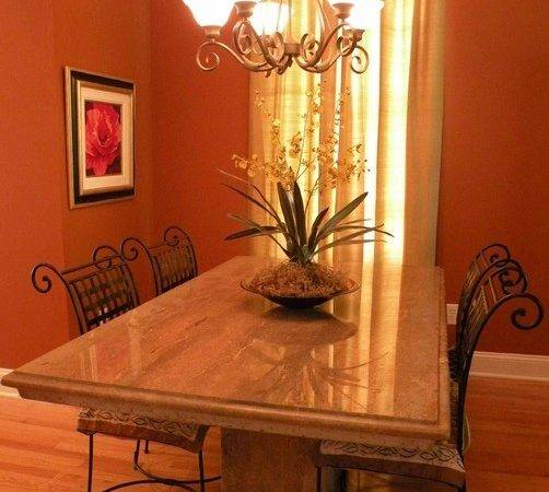 Dining Burnt Orange Modern Contemporary Room