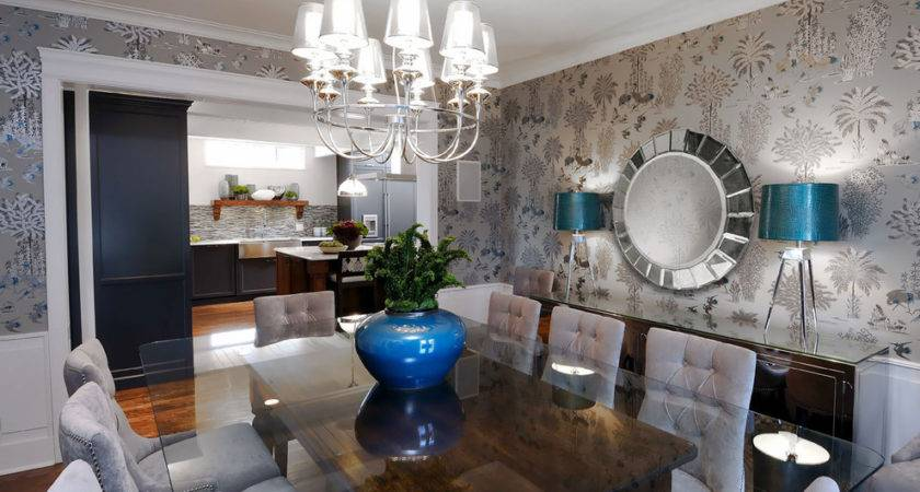 Dining Room Buffet Decorating Ideas Hanging Lamps Ceiling