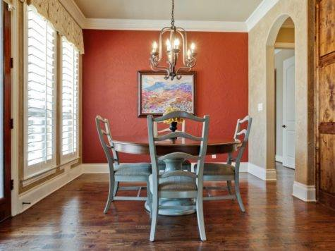 Dining Room Red Accent Wall Interior Design