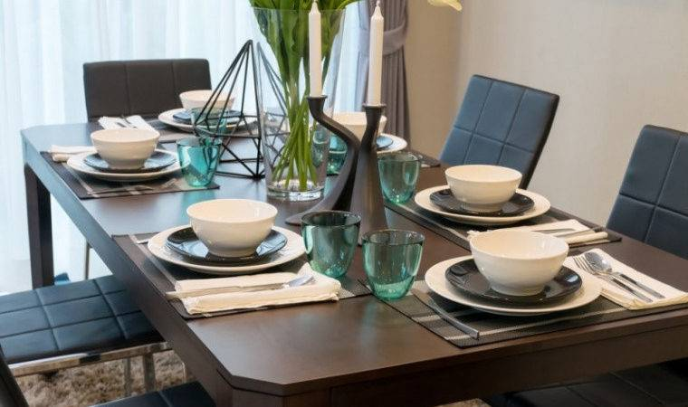 Dining Room Table Settings Well Modern