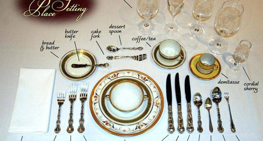 Dining Table Formal Setting Ideas Room