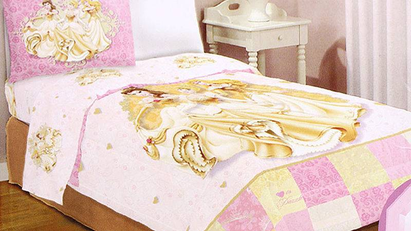 Disney Princess Twin Bedding Comforter Set Ruffle