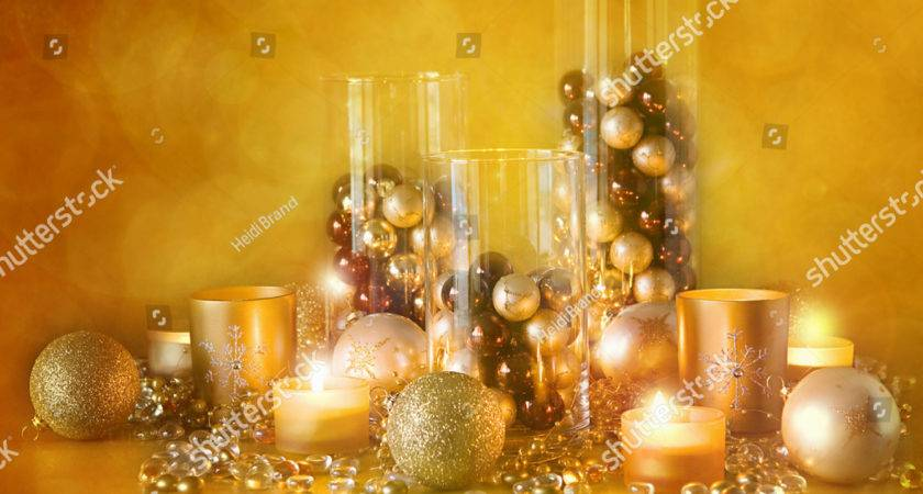 Display Gold Brown Christmas Decorations