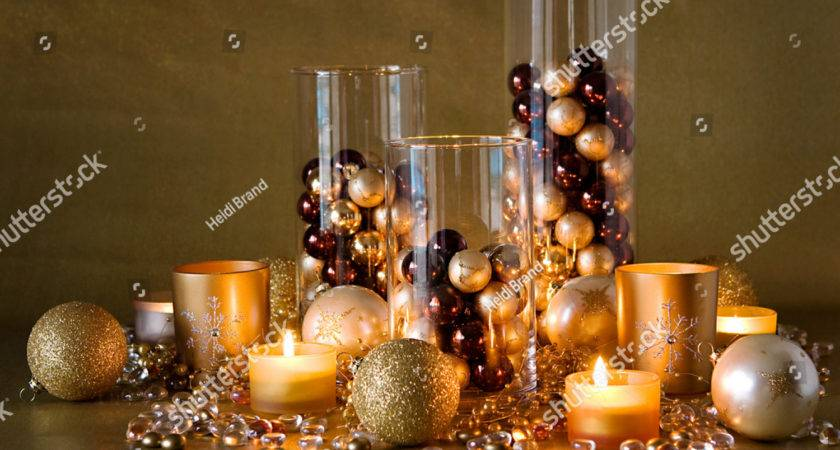 Display Gold Pearl Brown Christmas Decorations