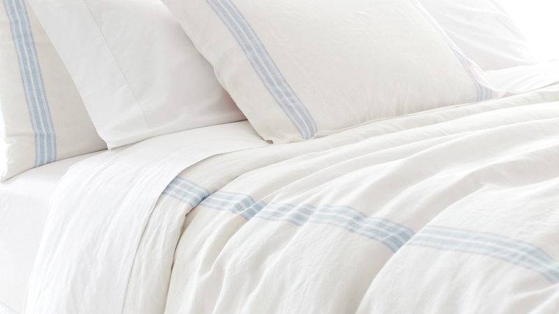 District Varana Linen French Blue Duvet Cover