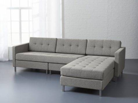 Ditto Grey Sectional Sofa Taylor