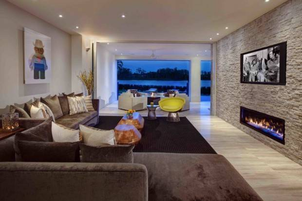 Divine Stone Wall Ideas Your Living Room Style