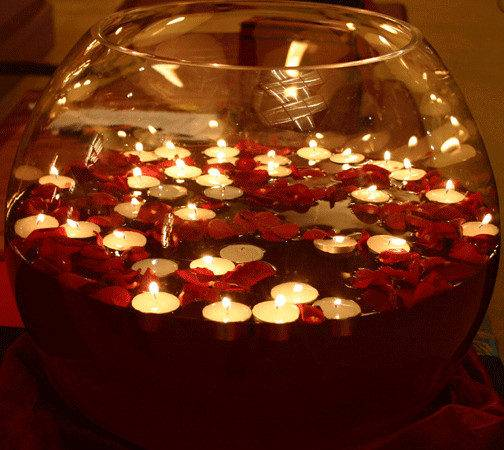 Diwali Decorations Using Floating Candles