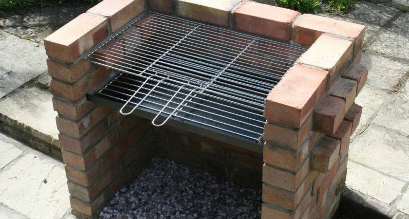 Diy Brick Charcoal Bbq Barbecue Thick Grate