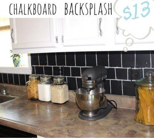 Diy Chalkboard Kitchen Backsplashes Make Shelterness