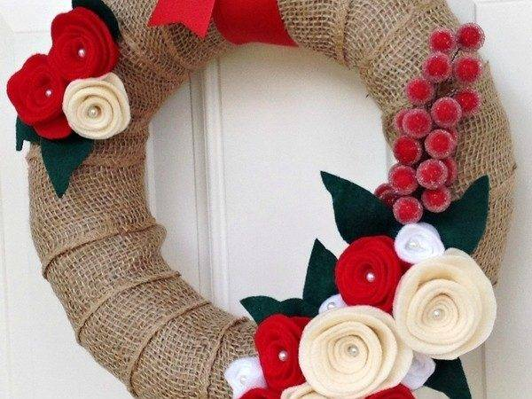 Diy Christmas Burlap Wreath Fashion Blog