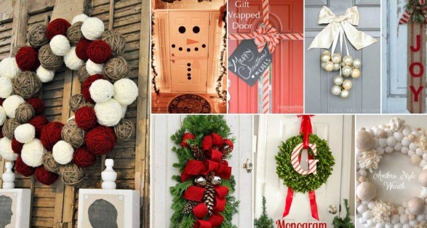 Diy Christmas Door Decorations Make Your Home