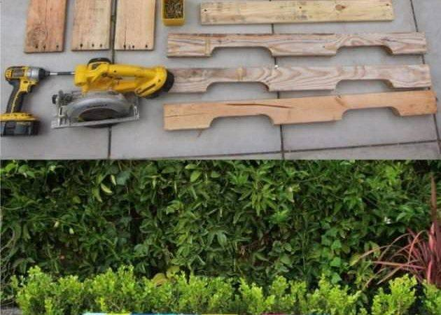 Diy Colored Bench Recycled Pallets