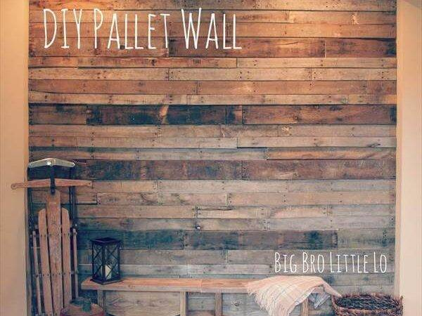 Diy Easy Pallet Wood Wall Pallets