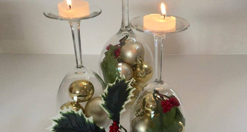 Diy Holiday Wine Glass Centerpieces Bride