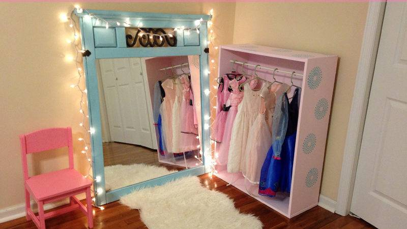 Diy Little Girl Princess Dress Closet Home Interior