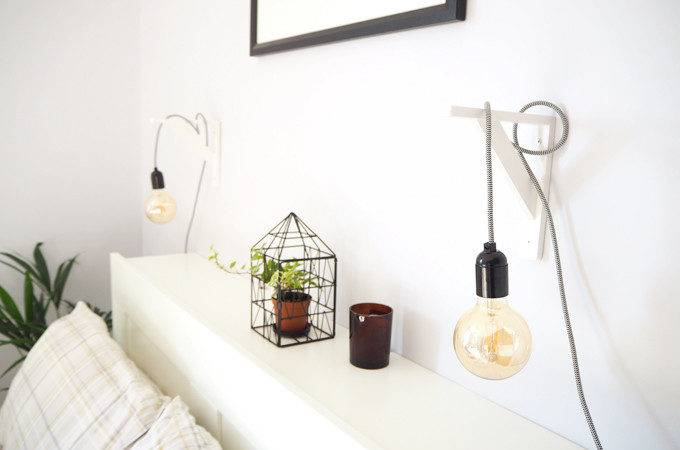 Diy Make Your Own Pendant Bedside Lamps Made Style