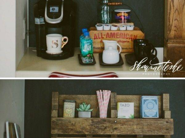 Diy Pallet Shelf Coffee Bar
