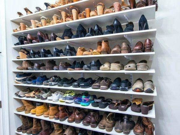 Diy Shoe Storage Ideas Small Spaces Rack Pinterest