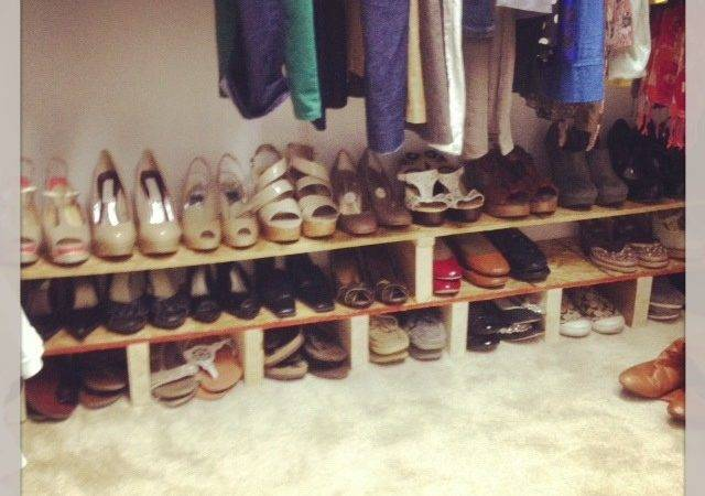 Diy Shoes Rack Pinterest